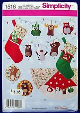 Simplicity Christmas Decoration Sewing Pattern Ornament Tree Skirt Stocking 1516