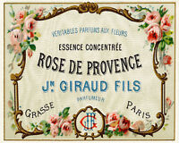 french perfume VINTAGE ADVERTISING ENAMEL METAL TIN SIGN WALL PLAQUE