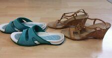 Women's Anne Klein iflex Sandals Wedge Lands' End Slippers size 7 lot