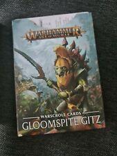 Gloomspite Gitz, Warscroll cards, brand new, in English