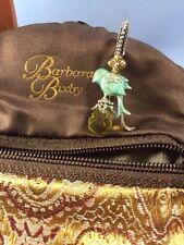 NEW Barbara Bixby Bird Charm Pendant Topaz Lemon Quartz Enamel SS .925 & 18K