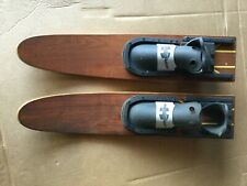 """30"""" Combo Water Skis - Wooden - Vintage - High Performance"""