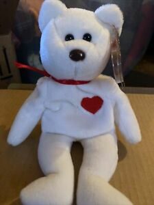 Rare Ty Valentino Beanie Baby Bear with Errors.