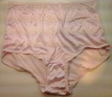 Women Panties,Briefs Size 9 Bright Pink Satin Soft Nylon W/Decoration