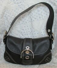 Coach Soho Black Leather Flap Bag F10188