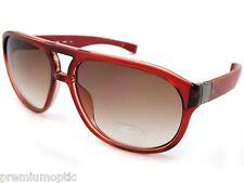 Lacoste Magnético Extensible Armas aviador gafas de sol De Cristal Rojo / Marrón l663s 615
