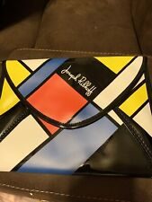 vintage Joseph Ribkoff Patrnt Clutch Modtisn Art Print Clutch Purse Handbag
