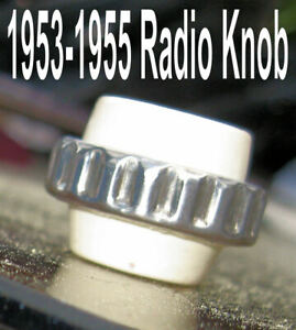 Corvette Parts 1953 1954 1955 Radio Knobs White Ivory One Only Each