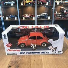 GreenLight 1/24 Gremlins 1967 Volkswagen Beetle With Gizmo Figure Orange 18231