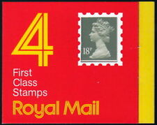Great Britain GC1 ~ 1987 4x 1st Class booklet Code B square tab (72p). Sc BK338.