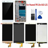 TOUCH SCREEN SCHERMO VETRO + LCD DISPLAY FRAME KITS Per HUAWEI P8 LITE ALE-L21