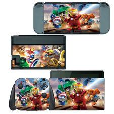 Nintendo Switch Skin Decal Sticker Vinyl Wrap - Super Heroes Ironman Hulk