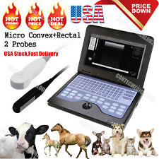 VET Veterinary portable Ultrasound Scanner Machine+2 Probes,Cow/Horse/Dog/Cat,US