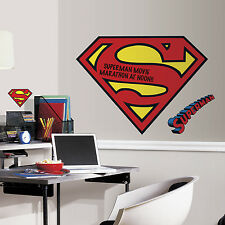 Superman Logo Dry Erase GiaNt Wall Decals BiG Dc Comics Stickers Boys Room Decor