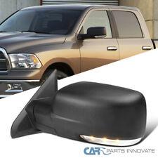 Para 09-12 Dodge Ram 1500 potencia calentado Lado Del Conductor Espejo Negro + LED Señal + Charco