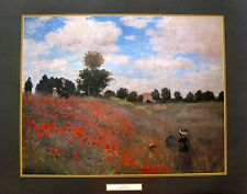"CLAUDE MONET ""POPPIES"" Large Lithograph Art"