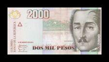 COLOMBIA 2000 PESOS 2014. PICK 457. SC. UNC (Uncirculated)
