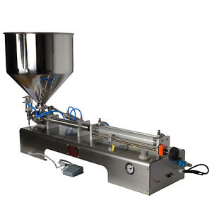 Semi-Automatic Pneumatic Filling Machine for Fill Cream Honey Sauce Cosmetic