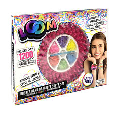 Loom Deluxe Set With 2 X 36cm Looms and 1200 Bands From Mr Toys