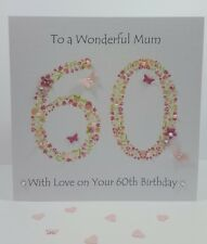 Personalised Handmade Mum Mother Gran 60th 70th 80th Birthday Card Friend Auntie