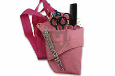 NEW PINK HAIRDRESSING SCISSOR AND COMB HOLSTER WAIST POUCH BAG