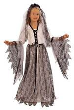 "Girls Teen Corpse Bride Costume Zombie /""Deadly Wed/"" Halloween Fancy Dress Outfit"