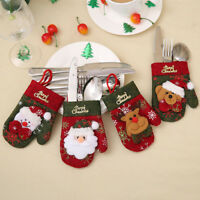 Christmas Cutlery Holder Glove Knife Fork Tableware Bag Xmas Decoration  Hot!