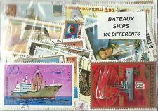 """Lot de 100 timbres thematique """" Bateaux"""""""
