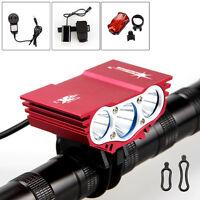 6000 Lumen 3x CREE XML T6 LED Bicycle Lamp Bike Light Flashlight Torch Headlight