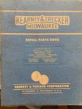 Kearney Amp Trecker Repair Parts Book Model Ck Milling Machines Original Rare