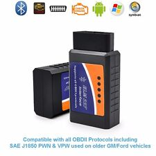 ELM327 Bluetooth OBD2 Car Diagnostics Scanner v1.5 for Android Windows PC Mac
