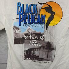 Gildan Black Pelican Tshirt Outer Banks NC Seafood Restaurant Small