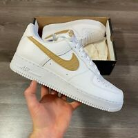 NIKE AIR FORCE 1 LV8 WHITE BROWN TRAINERS SHOES AF1 UK10 US11 EUR45 CW7567-101