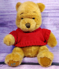 Disney Simply Pooh Winnie The Pooh Plush Bear Childs Toy Gift Red Sweater 13""