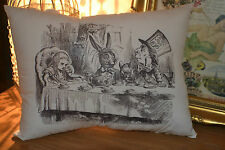 HANDMADE CUSHION ~ MAD HATTER TEA PARTY ~ ALICE IN WONDERLAND