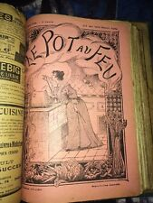 GASTRONOMIE REVUE LE POT AU FEU 1895.