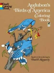 Audubon's Birds of America Coloring Book - Paperback - GOOD