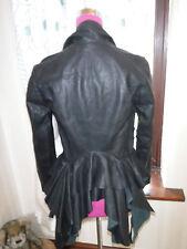 Amazing All Saints Mahonie Leather Jacket Black Size 8 VGC