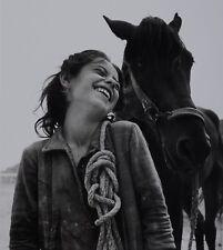 David Seymour Photo Kunstdruck Art 30x42cm Girl Mädchen Pferd Horse Matera 1948