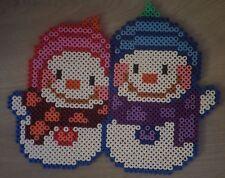 bonhomme de neige décoration noël en perle hama