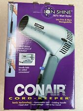 New in box, Conair cord-keeper hair dryer, ion shine, 1875 watt styler