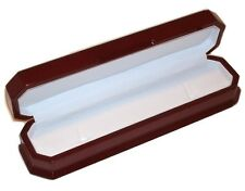 12 Elegant Cherry Wood Thin Bracelet or Chain Jewelry Display Gift Boxes