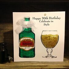 Personalised Handmade 30th 40th 50th 60th Birthday Card Dad Brother Husband Beer