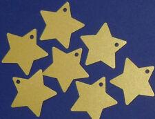 24 Sterne gold, Anhänger Zahlen für Adventskalender 3,5cm Weihnachtskalender