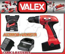 VALEX TRAPANO AVVITATORE A BATTERIA VALIGETTA ACCESSORI PUNTE ENERGY 12 -12V