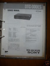 Sony Manual de Servicio Dtc-300es Audio Digital Tapedeck, O