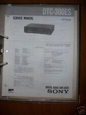 Service Manual Sony DTC-300ES Digital Audio Tapedeck,OR