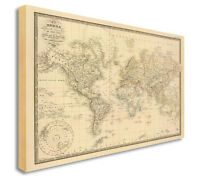 Ikea premiar world map canvas ebay world map map of world antique vintage style canvas picture large any size e gumiabroncs