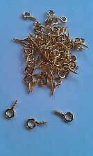 450 Gold Plated Screw In Eyelets Bails Eye Pins 10 x 4 mm  craft findings