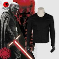 DFYM Star Wars Kylo Ren Cosplay Costume Top Black Coat Jacket Stitching Cotton